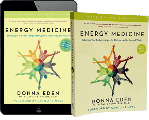 Energy Medicine book with tablet